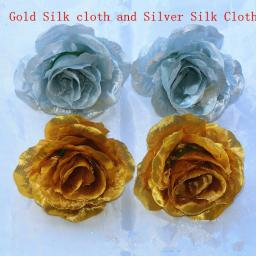 Gold or Silver Artificial Rose Flower Garland