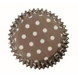 PME Brown Polka Dots Baking Cases 60pcs