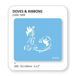 Doves & Ribbons Stencil