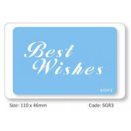 Best Wishes Cake Stencil Reusable