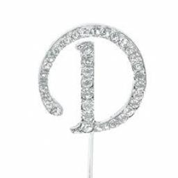 Diamante Letter DCake Topper Decoration