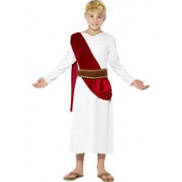 Roman Boy Robe with Belt and Headpiece