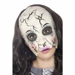 Damaged Doll Mask Adult