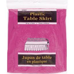 Plastic Table Skirt Hot Pink 73cm x 426cm