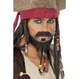 Pirate Beard Set 3 Piece Plaited Beard & Moustache