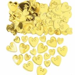 Gold Loving Hearts Embossed Confetti - 14g