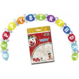 65pc Happy Birthday Balloon Arch Instant Kit