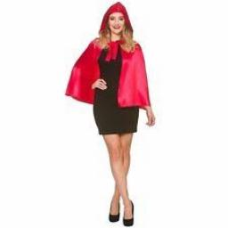 Soft Short Hooded Red Cape 23 inch