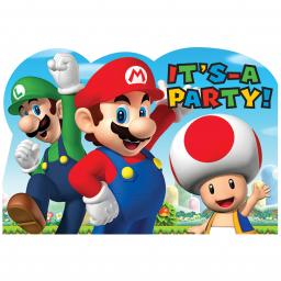 Super Mario Invitation Postcards 8 sets
