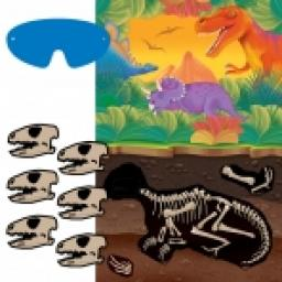 Prehistoric Party Game 1Poster 12Stickers Blindfo