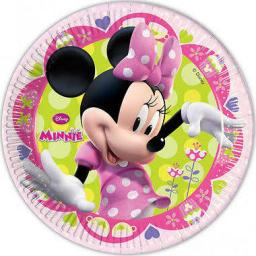 Minnie Mouse Paper Party Plates 8x23cm