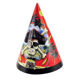 Pirate Paper Party Hats 8pcs