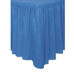 Plastic Royal Blue Table Skirt 73cm x 426cm