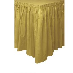 Plastic Gold Table Skirt 73cm x 426cm