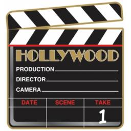 Hollywood Clapper Board Cutout 26cm