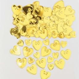 Loving Hearts Gold Embossed Metallic Confetti 14g