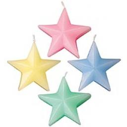 Star Candles Soft Colours 4pc