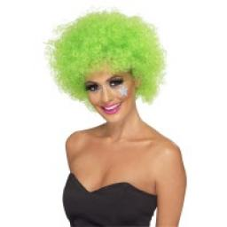 Funky Afro / Crazy Clown Green Wig