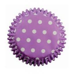 PME Lavender Polka Dots Baking Cases 60pcs