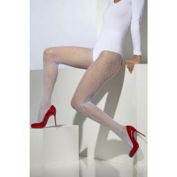 Fever Fishnet Tights White