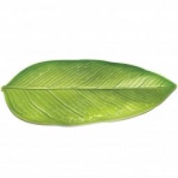 Leaf Shaped Platter Hard Plastic 36.8cm x 22.8cm