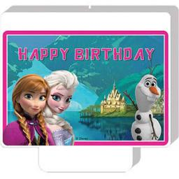 Frozen Happy Birthday Candle