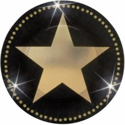 Star Attraction Paper Party Plates 8x7inch