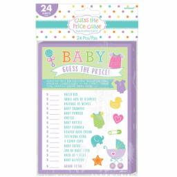 Baby Shower Guess the Price Game 24 sheets