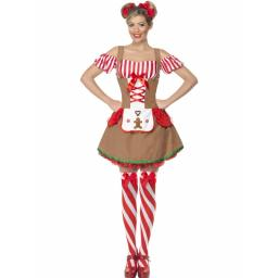 Gingerbread Woman Costume with Attached Apron