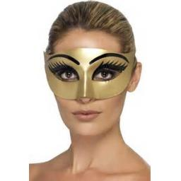 Evil Cleopatra Eyemask Gold With Eyelashes