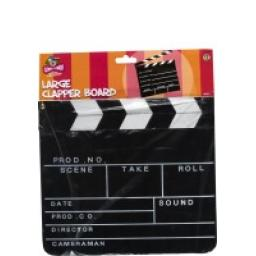 CLAPPER BOARD LARGE 12X10.5 HEADERCARD