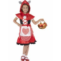 Miss Hood Costume Red Dress & Hooded Cape