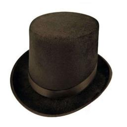 Black Top Hat One Size