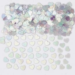 Sparkle Hearts Iridescent Metallic Confetti 14g