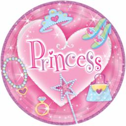 Princess Prismatic Plates 22.8cm 8pcs NOT microwaveable