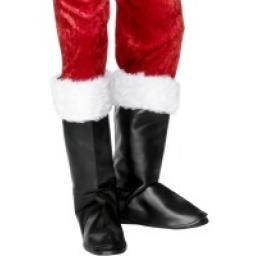 Santa Boot Covers With Fur Top