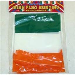 Irish Flag Bunting 11flags 12feet in length