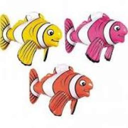 Inflatable Tropical Fish 17 inch High