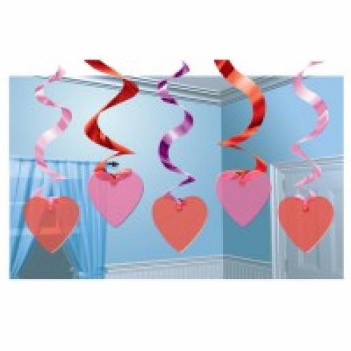 Candy Hearts Hanging Swirl Decoration 60.9cm
