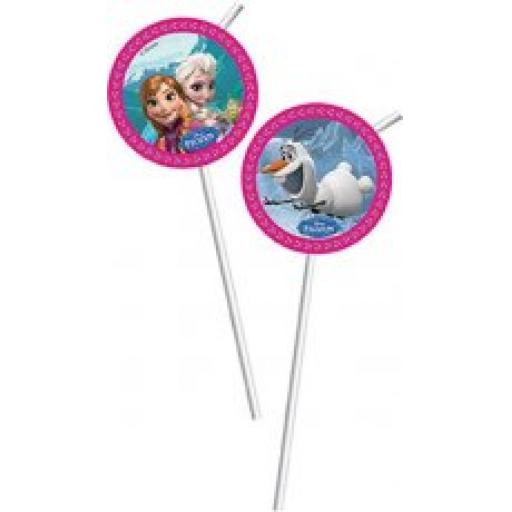 Frozen Drinking Straws 6pcs