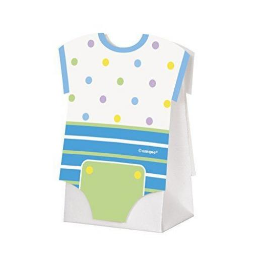 Blue Polka Dot Baby Shower Favour Boxes Pack of 8