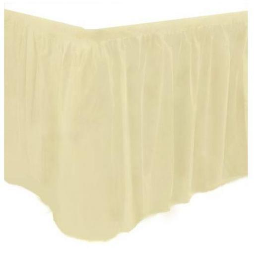Plastic Ivory Table Skirt 73cm x 426 cm