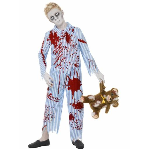 Zombie Pyjama Boy Costume Top and Trousers