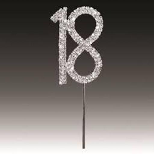 Diamante 18th Birthday Cake Topper Decoration