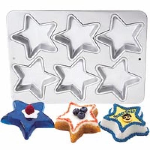 Wilton 6 Cavity Mini Star Pan