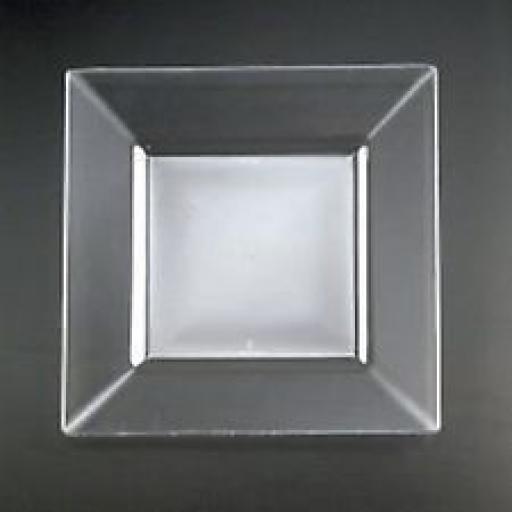 Prestige Euro Clear Sqr Plates 6.5in 10pk