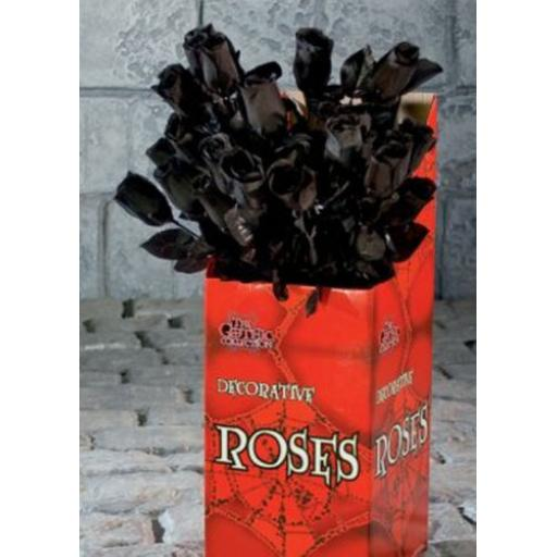 Single Black Artificial Rose 43cm