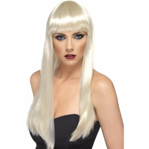 Beauty Wig Long Blond With Fringe