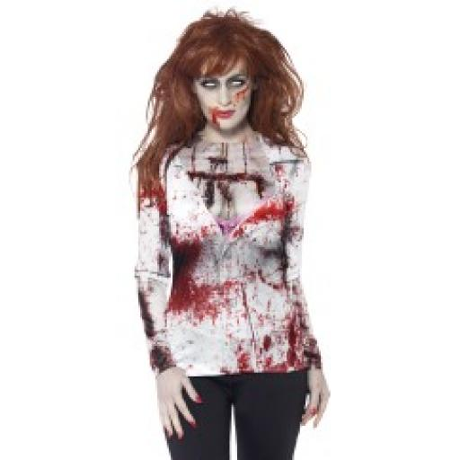 Zombie Female T-Shirt with Sublimation Print