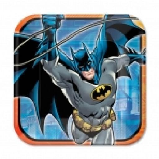 Batman Square Paper Plates 23cm 8pcs